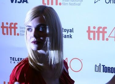 Elle Fanning on the Red Carpet for movie Trumbo during the Toronto International Film Festival in Toronto on Friday September 11, 2015. Dave Abel/Toronto Sun/Postmedia Network