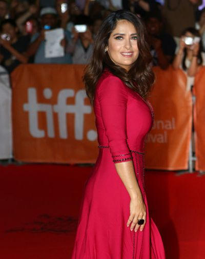 "Salma Hayek on the red carpet for movie ""Septembers of Shiraz"" during the Toronto International Film Festival in Toronto on Friday September 11, 2015. Dave Abel/Toronto Sun/Postmedia Network"