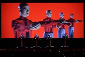 German techno-pop pioneers Kraftwerk, seen in this file photo, played Edmonton's Jubilee Auditorium Wednesday night. (AFP/File)
