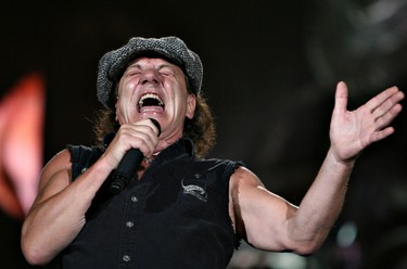 Edmonton, Alta., Aug 26,  2009 - Lead singer Brian Johnson performs during the ACDC concert at Commonwealth Stadium on Wednesday.   (Edmonton Sun file)