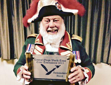 Brantford town crier David McKee won the Ambassador Award at the Central Otago World Town Crier Tournament in New Zealand. (Submitted Photo)