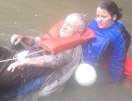 George Osterhues, Carolina flood rescue