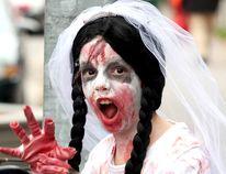 Enid Wyper-Haig, 9, was a zombie bride during Soo Zombie Walk in 2011.