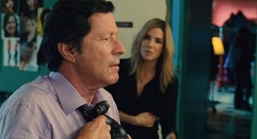 "Joaquim de Almeida and Sandra Bullock in a scene from ""Our Brand is Crisis""."