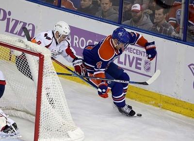 Edmonton Oilers' \ Washington Capital's  \c during 2nd period NHL action at Rexall Place in Edmonton, Alberta on October 21, 2015. Perry Mah/Edmonton Sun/Postmedia Network