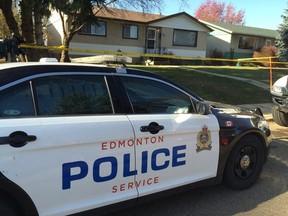Police on scene of a suspicious death at 130 Avenue and 123 Street. Perry Mah/Edmonton Sun/Postmedia Network