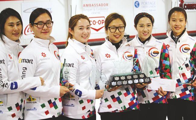 EunJung Kim's rink defeated Jennifer Jones 8-7 Sunday to win the second annual Canad Inns Women's Classic at the Portage Curling Club in Portage la Prairie. (Matt Hermiz/TheGraphic/Postmedia Network)