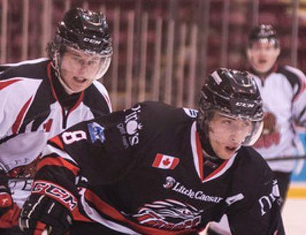 Brandon Grandinetti(right)has completed three seasons with the NOJHL's Soo Thunderbirds