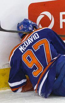 Edmonton centre Connor McDavid (97)