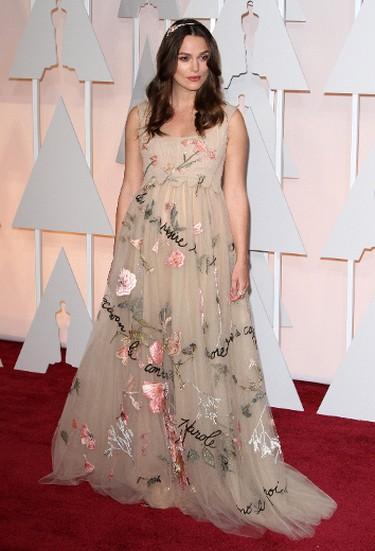"10. Keira Knightley at the Oscars. THR calls the look ""ethereal"". (Adriana M. Barraza/WENN.com)"