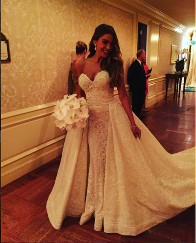 Sofia Vergara Scores By Sharing Wedding Photos On
