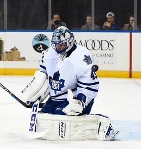 Toronto Maple Leafs goaltender Jonathan Bernier. (KATHY KMONICEK/AP files)