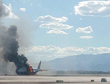 Las Vegas plane fire British Airways