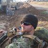 Dillon Hillier fighting ISIS in Rashad, southwest of Kirkuk, Iraq.