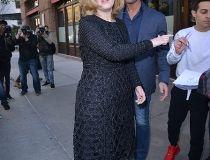 Adele leaving her hotel in New York