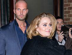 Adele leaving her hotel in New York on November 16, 2015. (TNYF/WENN.com)