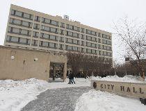 City Hall winter filer snow