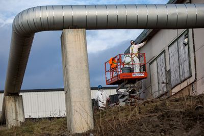 Work has begun at the site of the Zibi development. Thursday December 10, 2015. Errol McGihon/Ottawa Sun/Postmedia Network