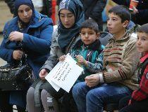 Al Khodr family Eau Claire Market Syrian refugee ceremony