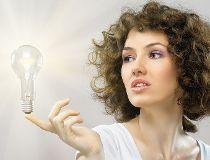 Woman light bulb