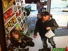OPP is seeking the public's help identifying two suspects in a store theft. OPP handout.