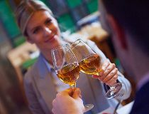 Wine toast at restaurant