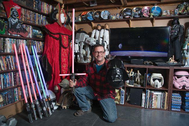 Robert Appleton has been collecting Star Wars memorabilia since the film debuted in 1977. Derek Ruttan/The London Free Press/Postmedia Network