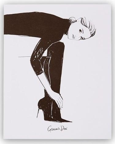 Garance Doré x Rifle Paper Co. Tall Black Boots Art Print - 8x10  Chapters  $25.00