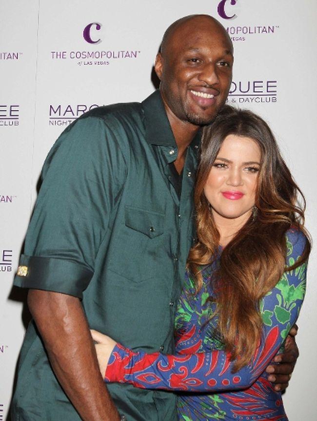 """Lamar Odom and Khloe Kardashian. (DJDM/<A HREF=""""http://www.wenn.com"""" TARGET=""""newwindow"""">WENN.COM</a>)"""