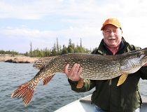 Great Slave Lake produces big pike.