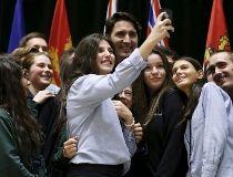 Trudeau, selfie