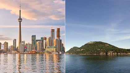 Toronto and Galiano Island