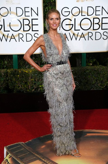 Model Heidi Klum arrives at the 73rd Golden Globe Awards in Beverly Hills, California January 10, 2016.  REUTERS/Mario Anzuoni
