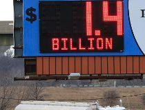 Powerball $1.4 billion billboard