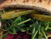 Chef Paul Shufelt's hamburger. (Supplied)