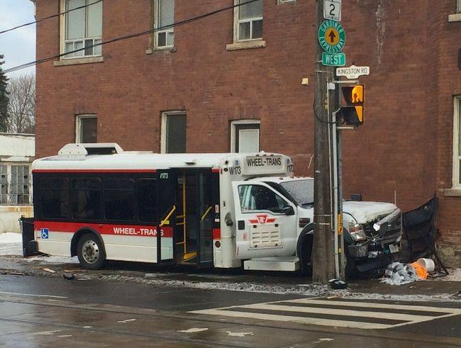 Wheel Trans crash Kingston Rd