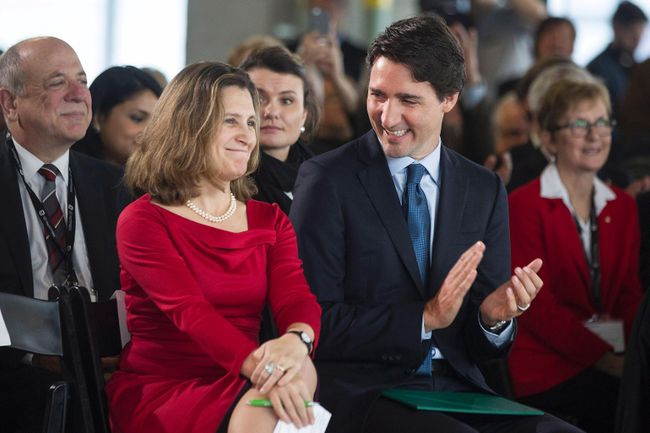 Justin Trudeau, Chrystia Freeland