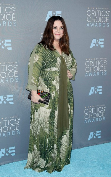 Actress Melissa McCarthy arrives at the 21st Annual Critics' Choice Awards in Santa Monica, California January 17, 2016.  REUTERS/Danny Moloshok