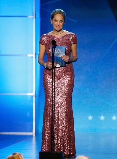 Sharon Stone presents an award during the 21st Annual Critics' Choice Awards in Santa Monica, California January 17, 2016.  REUTERS/Mario Anzuoni