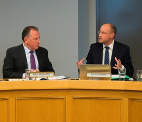 Paul Paolatto and Mayor Matt Brown (Free Press file photo)