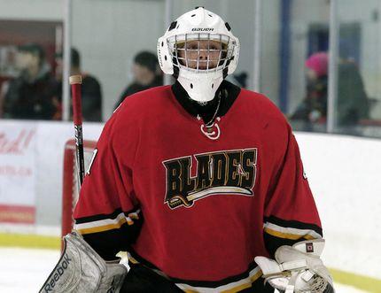 Blenheim Blades goalie Klinton Kenney. (Daily News File Photo)