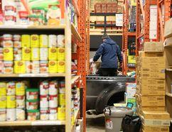 Volunteers drop off food at the Wood Buffalo Food Bank on Saturday, November 28, 2015. Garrett Barry/Fort McMurray Today/Postmedia Network