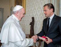 Pope Francis meets Leonardo DiCaprio