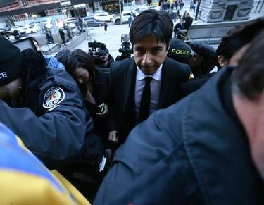 Jian Ghomeshi arrives at Old City Hall court on Feb. 1, 2016. (Craig Robertson/Toronto Sun)