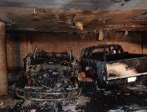 Arson detectives are investigating a suspicious parkade blaze