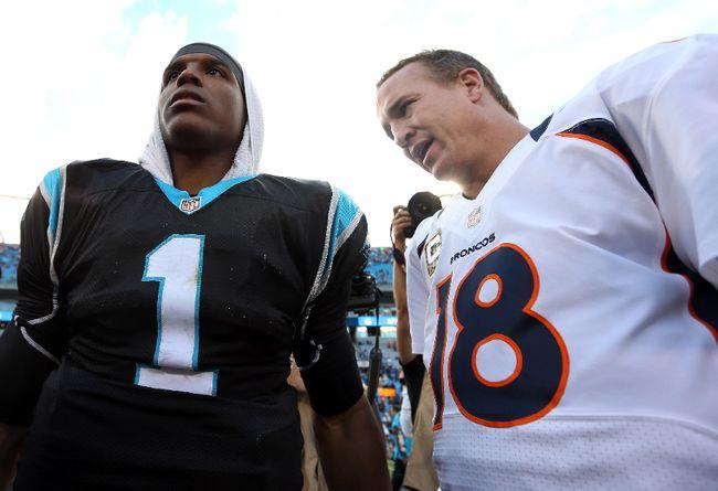 Cam Newton Peyton Manning FILES Feb. 4/16