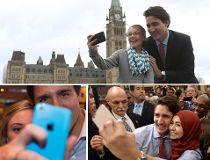 Trudeau's selfies