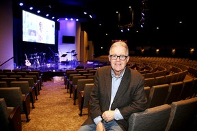 Jeremy Mahood in the auditorium at All Nations Church. Gino Donato/Sudbury Star/Postmedia Network