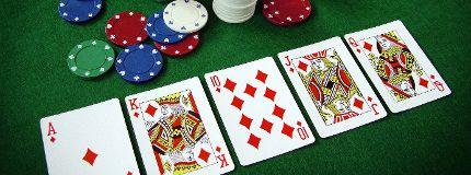 Poker hand file photo