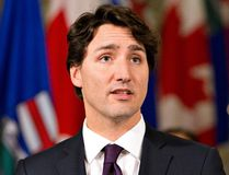 Prime Minister Justin Trudeau speaks to media in Edmonton, Alta., on Feb. 3, 2016. (THE CANADIAN PRESS/Jason Franson)
